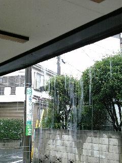 すごい雨だ